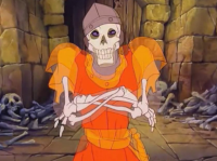Dragon's Lair skeleton