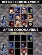 Mortal Kombat meme with only masked warriors